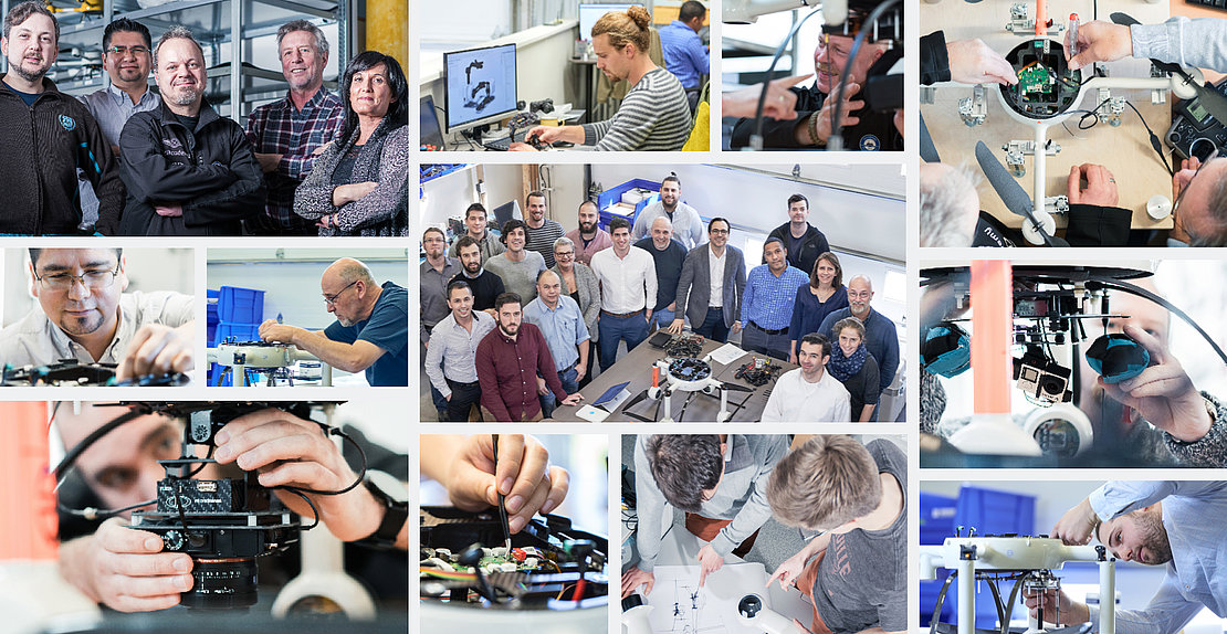 Microdrones team members collage