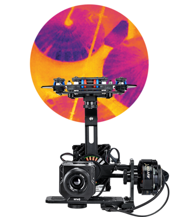 Microdrones mdMapper +t FLIR Vue Pro R sensor for thermal mapping