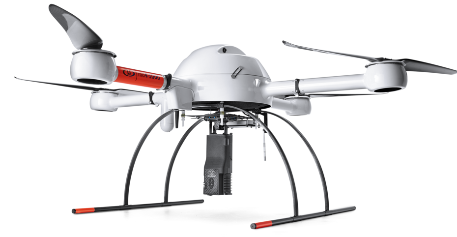 mdTector1000CH4 integrated system with a Microdrones md4-1000 UAV