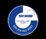 label TÜV Nord DIN ISO 9001