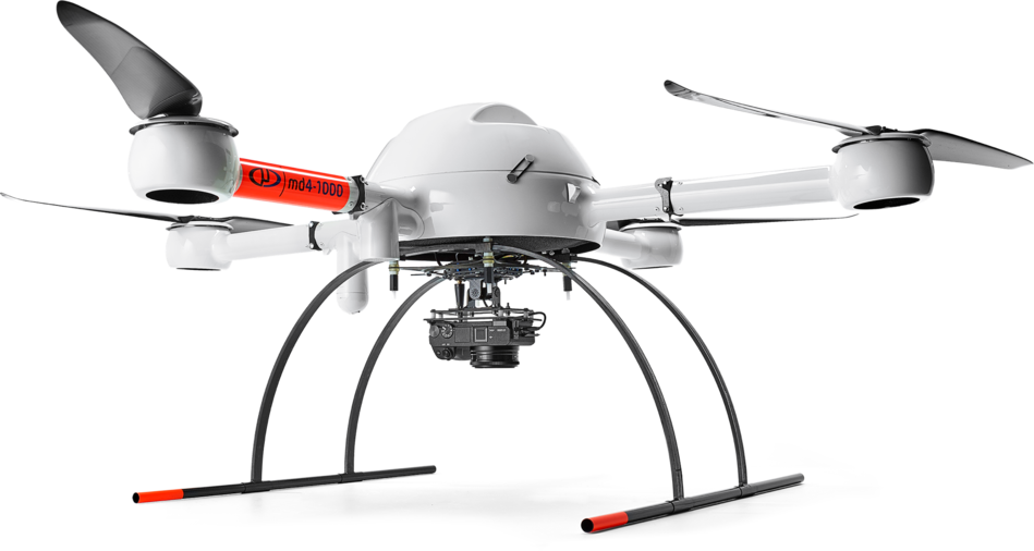 mdMapper1000 integrated system with a Microdrones md4-1000 UAV