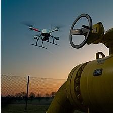 مهمة فحص لخط أنابيب الغاز باستخدام طائرة md4-1000 بدون طيار من شركة Microdrones