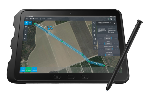 mdTectorCH4 Methane detection visualization on a tablet