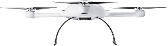 Microdrones md4-3000 drone UAV lower front view