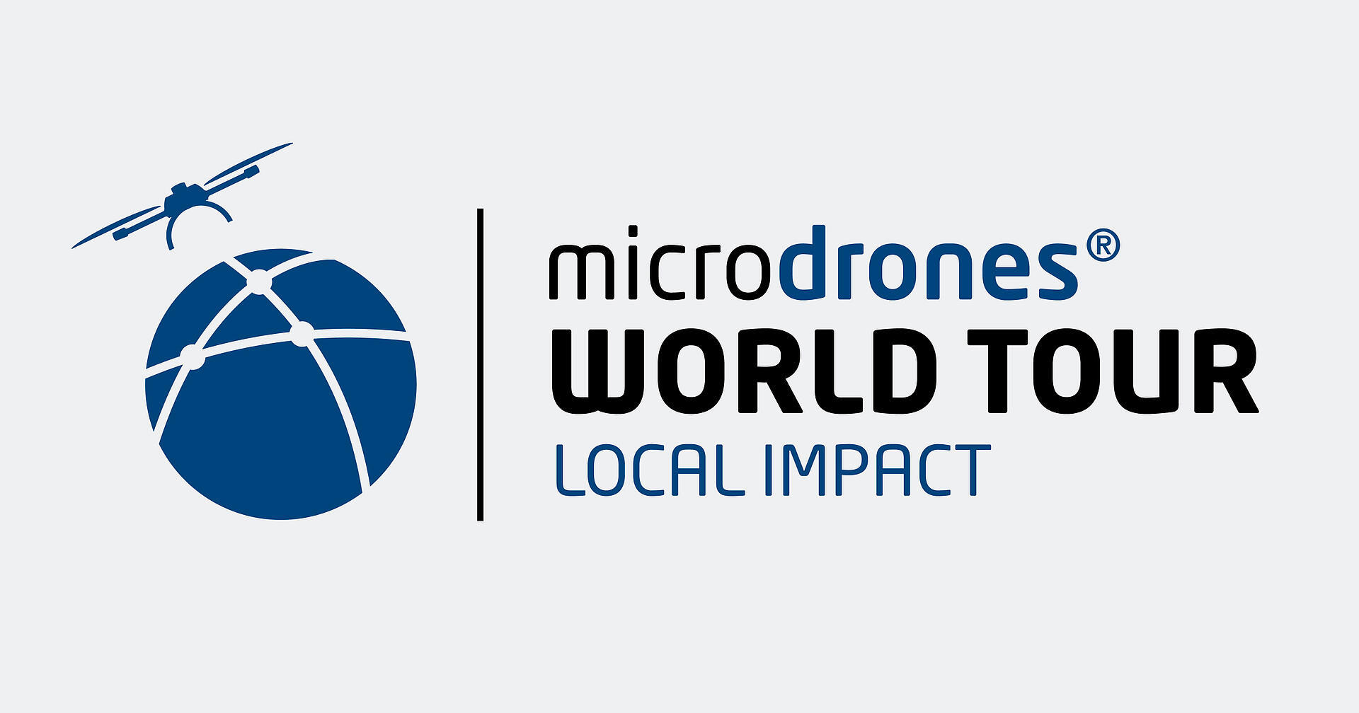 """Logo of the """"Microdrones World Tour - Local Impact"""" event"""
