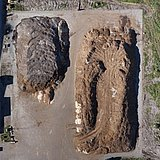 Orthophoto of a sawdust pile done with a Microdrones mdMapper integrated system, used for volumetric calculations.