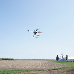 Mapping mission of an agricultural field using a Microdrones md4-1000 UAV